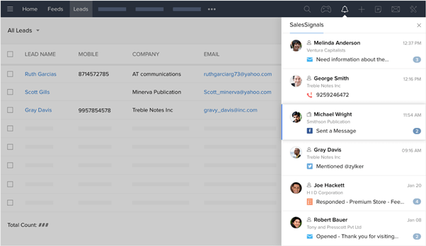 Zoho CRM Features_Signity