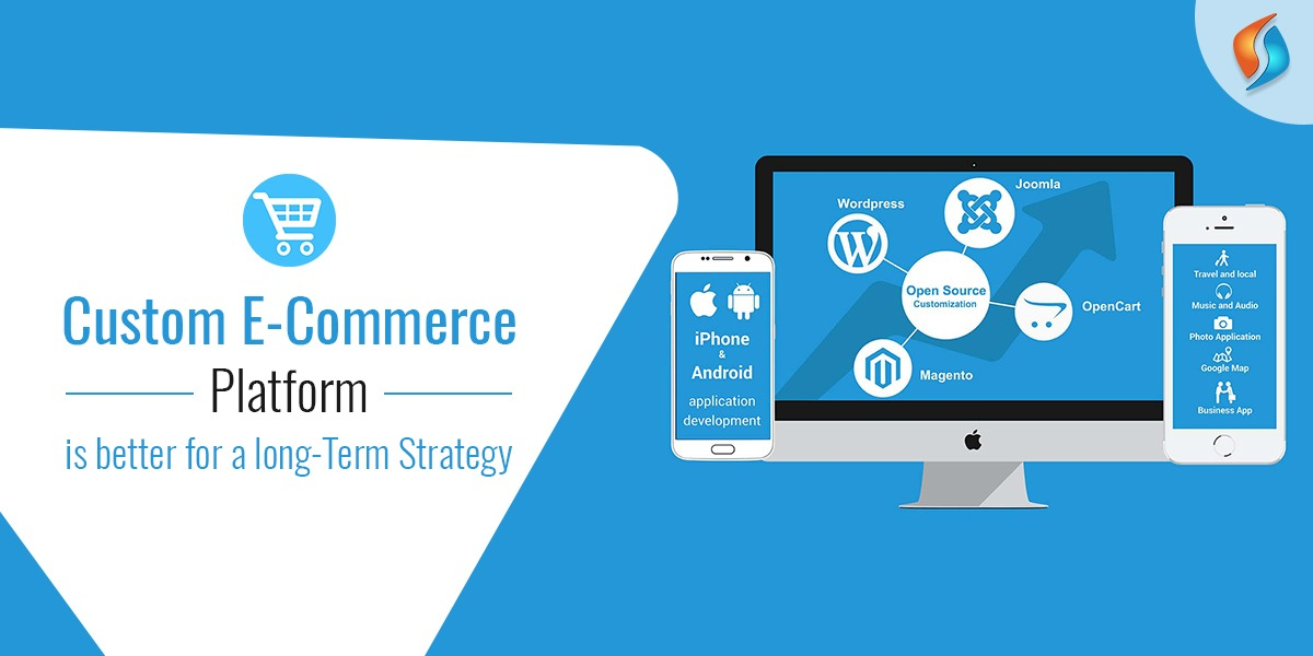 Custom ecommerce platform is better for long-term strategy